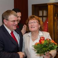 Harry Scheuenstuhl mit Ehefrau Liane